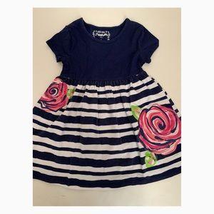Used Flapdoodles Girls Flower Dress - Size 5
